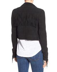 PAIGE Black 'darlene' Suede Jacket