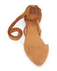 Callisto Brown Anneka Lace-up D'orsay Flat