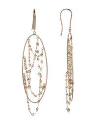 Lana Jewelry - Metallic 14k Yellow Gold Long Thin Oval Earrings - Lyst