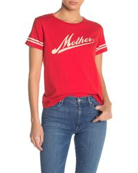 Mother Red The Lil Goodie Goodie Crew Neck T-shirt