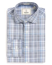 Todd Snyder | Blue Plaid Trim Fit Dress Shirt for Men | Lyst