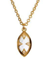Melinda Maria - Metallic Tessa Marquis Pendant Necklace - Lyst