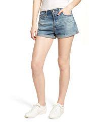 AG Jeans - Blue Alex Cuff Denim Boyfriend Shorts (15 Years Cyan Canyon) - Lyst