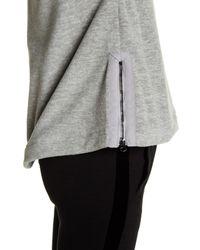 Betsey Johnson - Gray Spacedye Fleece Boxy Pullover - Lyst