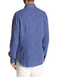 Borgo 28 - Blue Jacquard Modern Fit Shirt for Men - Lyst