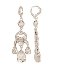 Givenchy - Multicolor Prong Set Multi Cut Glass Crystal Chandelier Earrings - Lyst