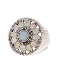 Lucky Brand   Metallic Seafoam Ring - Size 7   Lyst