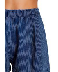 Fifteen Twenty - Blue Stripe Short - Lyst