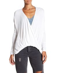 Fifteen Twenty - White Cocoon Ribbed Pullover - Lyst