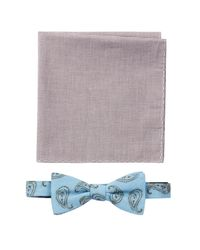 Original Penguin - Blue Bow Tie & Pocket Square Set for Men - Lyst