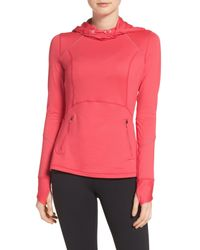 Zella - Pink Run Free Hooded Pullover - Lyst
