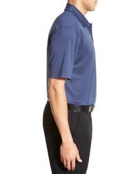 Swc Blue Moisture Wicking Golf Polo for men