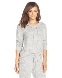 Make + Model Gray Pullover Hoodie