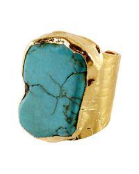 Charlene K - Blue Turquoise Cigar Ring - Lyst