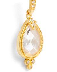Freida Rothman - Metallic Audrey 14k Yellow Gold Plated Sterling Silver Faceted Cz Teardrop Earrings - Lyst