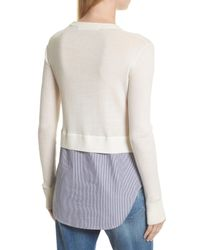 Veronica Beard - White Cassie Combo Sweater - Lyst