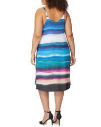 REBEL WILSON X ANGELS - Blue Cami Swing Dress (plus Size) - Lyst