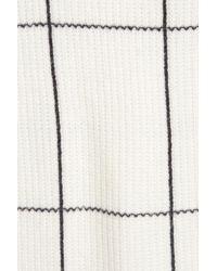 Halogen - Multicolor Wool & Cashmere Blend Windowpane Check Muffler - Lyst