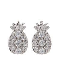 Nadri - Multicolor Cz Accent Pineapple Stud Earrings - Lyst