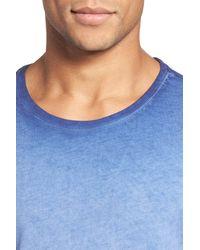Daniel Buchler - Blue Vintage Wash Cotton T-shirt for Men - Lyst