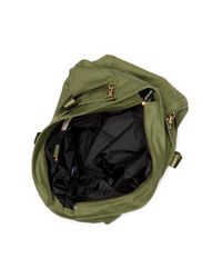 Peace Love World Green North/south Studded Love Duffel Bag