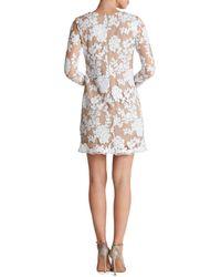 Dress the Population - White Grace Sequin Lace Shift Dress - Lyst