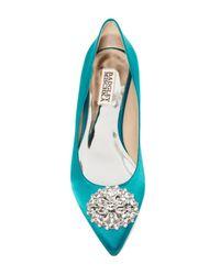 Badgley Mischka - Blue Davis Crystal Embellished Pointed Toe Flat - Lyst