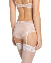 Natori - Multicolor 'feathers' Garter Belt - Lyst