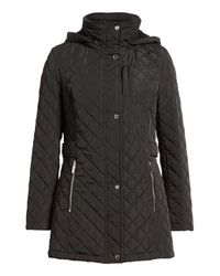 Calvin Klein Black Hooded Quilted Jacket