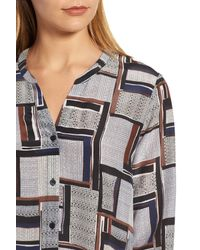 NIC+ZOE - Multicolor Falling Cube Blouse - Lyst