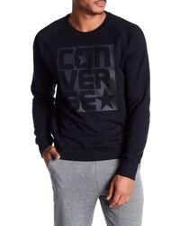 Converse - Black Logo Graphic Sweatshirt for Men - Lyst