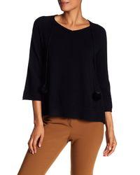 In Cashmere | Black Tassel Cashmere Sweater | Lyst