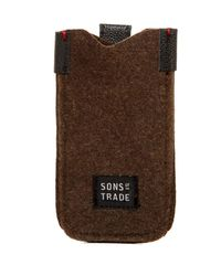 Sons Of Trade - Green Embark Felt Phone Sleeve for Men - Lyst