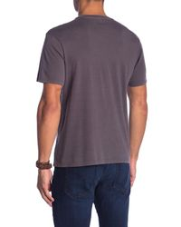 Threads For Thought - Purple Short Sleeve Pigment Dyed V-neck Tee for Men - Lyst