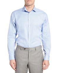 Calibrate - Blue Trim Fit Non-iron Stretch Dress Shirt for Men - Lyst