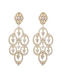 Judith Ripka | White Gold Plated Sterling Silver Cz Clip Earrings | Lyst