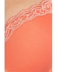 Natori Orange Feathers Underwire T-back Bra