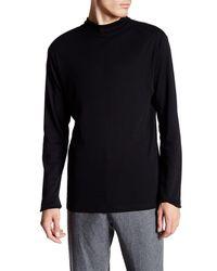 77f45c7b Lyst - Lindbergh Long Sleeve Mock Neck Tee in Black for Men