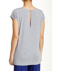 Blush Lingerie - Gray Liberty Pajama Set - Lyst