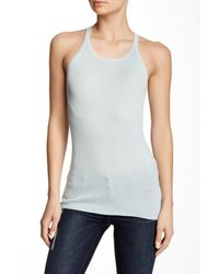 INHABIT | Multicolor Ribbed Silk Blend Tank | Lyst