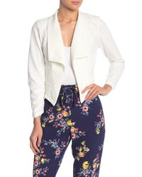 Material Girl Multicolor Ruched Sleeve Blazer