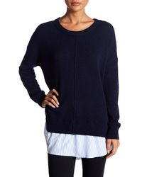 Dreamers By Debut - Blue Relaxed Crew Neck Sweater - Lyst