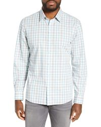 Zachary Prell Blue Regular Fit Plaid Sport Shirt for men