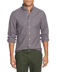 GANT | Gray The Perfect Oxford Trim Fit Long Sleeve Sport Shirt for Men | Lyst