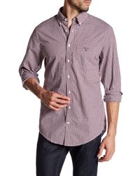GANT   Purple Lobby Heather Gingham Regular Fit Shirt for Men   Lyst