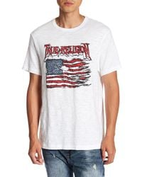 True Religion | White Land Of The Free Graphic Short Sleeve Tee for Men | Lyst