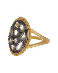 Freida Rothman - Metallic 14k Gold Vermeil Rose D'or Oval Cz Ring - Size 8 - Lyst