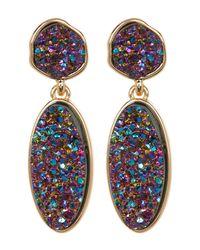 BaubleBar   Multicolor Druzy Statement Drop Earrings   Lyst