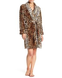 Oscar de la Renta - Multicolor Short Wrap Animal Print Robe - Lyst