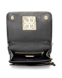 Tory Burch - Black 'britten' Leather Crossbody Bag - Lyst